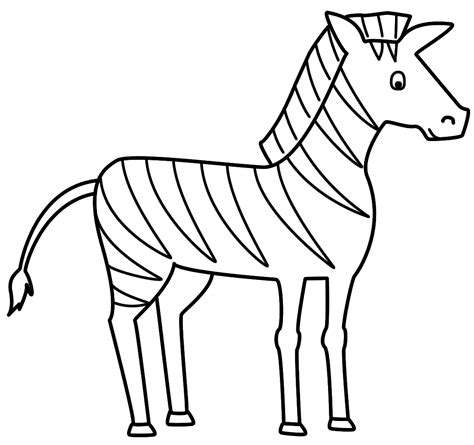 zebra coloring page  large images