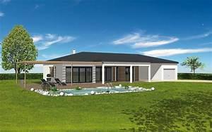 toit plat maison contemporaine suite parentale maison With photo maison contemporaine plain pied