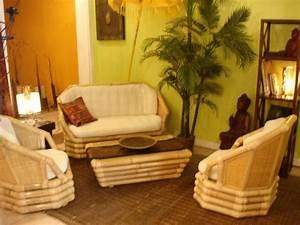 Deco Zen Salon : d co salon zen bambou ~ Teatrodelosmanantiales.com Idées de Décoration