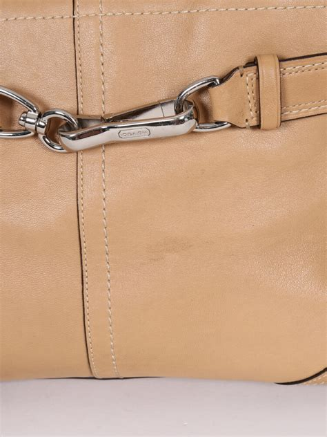 coach beige leather small shoulder bag luxury bags