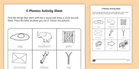 e phonics worksheet activity sheet worksheet