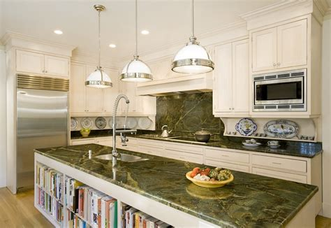 black kitchen island with granite top butterfly green granite kitchen traditional with breakfast