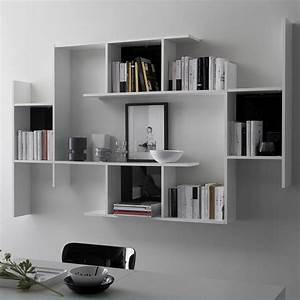 étagère Murale Bibliothèque : meuble rangement livres design ~ Teatrodelosmanantiales.com Idées de Décoration