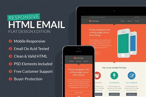 stackapp responsive email template creative htmlcss