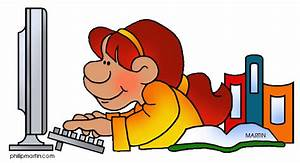 Student at computer clipart - Clip Art Library