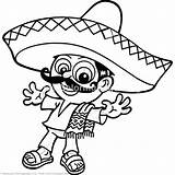 Coloring Sombrero Mexican Pages Hat Drawing Getcoloringpages Clipartmag Cart sketch template