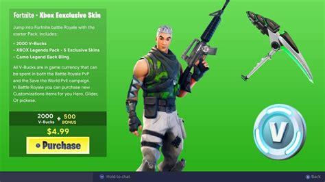 xbox skin bundle  fortnite  xbox