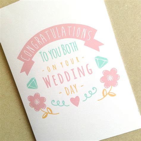 personalised congratulations wedding day card  ello