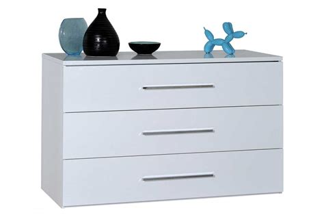 commode blanche chambre commode laque blanc ou noir 3 tiroirs trendymobilier com