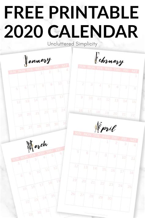 Welcome back wiki calendar family! Free 2020 Printable Calendar To Help You Organize Your Life