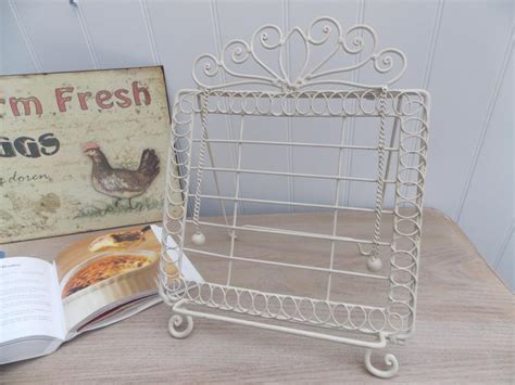 shabby chic recipe book stand shabby chic cream metal recipe book holder stand music mulberry moon