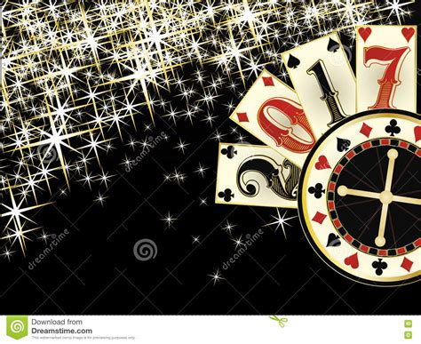 christmas casino happy new year 2017 card stock vector