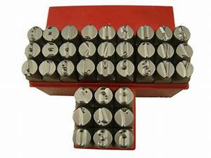 1 2quot 125mm letter number punch stamp set metal steel With 1 2 letter punch set