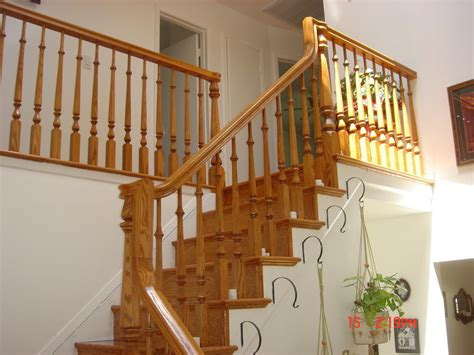 wood stair railing inspiring loccie  homes gardens ideas