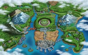Pokemon Unova Region Map