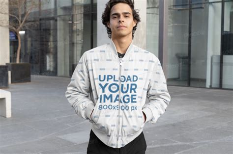 It comes with front and back view so make sure you take full advantage of it. 35+ Mens Bomber Jacket Mockup Front View Background ...
