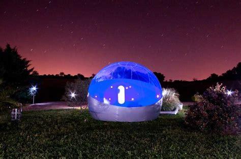 nuit romantique photo de les chambres bulles du château