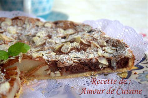 cuisine vapeur recettes tarte poires et chocolat de stephane glacier amour de