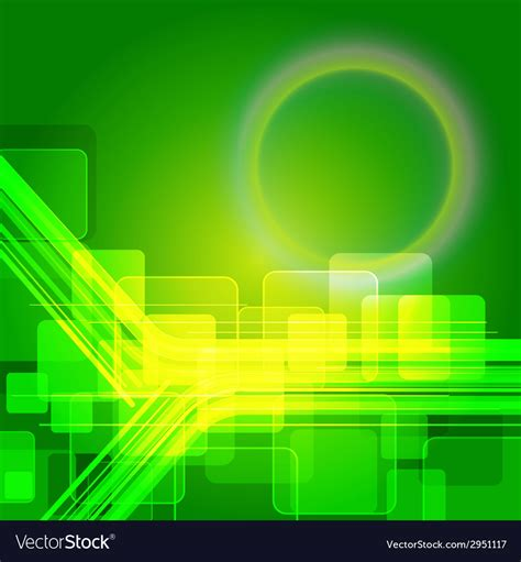 Elegant technical abstract green background Vector Image