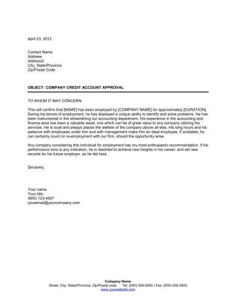 letter  verification  employment  printable
