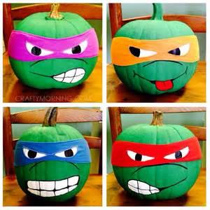 Ninja Turtle Pumpkins No Carve clever no carve painted pumpkin ideas for kids crafty