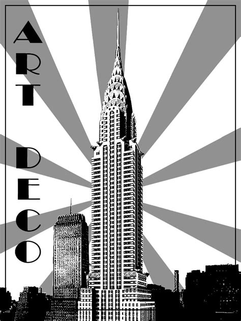 art deco chrysler building  york art deco adult