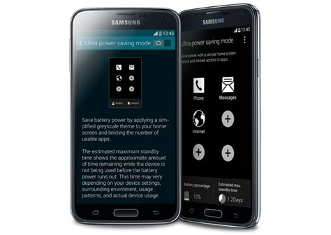 battery in samsung galaxy s5 and ultra power saving mode explained