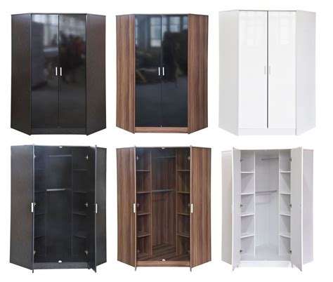 Bedroom Set With Wardrobe Closet by Details About Khabat High Gloss Furniture 2 Door Corner