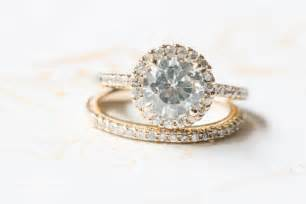 gold halo engagement rings a peachy southern wedding with brilliance rings