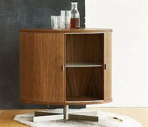 Modern tambour door drinks cabinet from Denmark ...