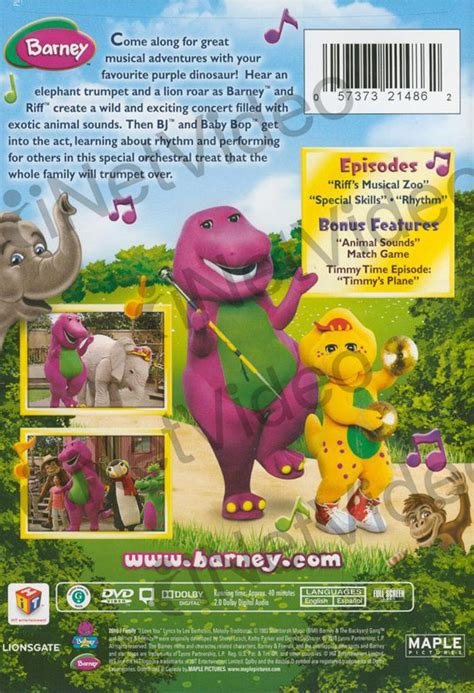 Musical zoo the 2010 movie, trailers, videos and more at yidio. Barney: Musical Zoo on DVD Movie