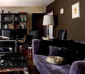 Modern interior decorating with silver orange and dark for Interior decorating dark rooms