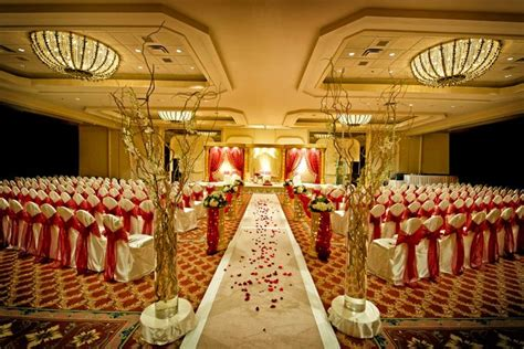 a banquet decorated for wedding purposes