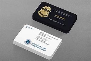 Federal law enforcement business cards kraken design for Homeland security business cards