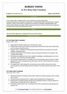 New Home Sales Consultant Resume Samples