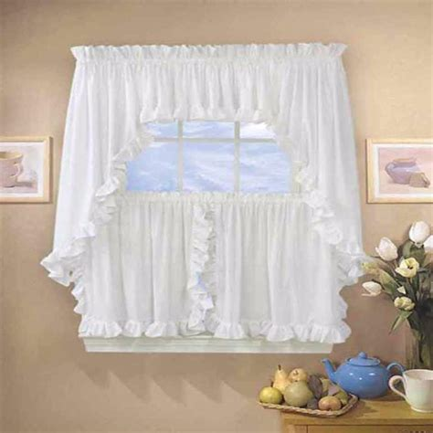 classic cape  ruffled kitchen valance swags  tier