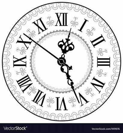 Clock Vector Antique Tattoo Face Roman Clocks