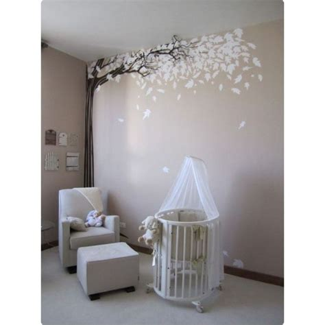 awesome stickers arbre blanc chambre bebe gallery