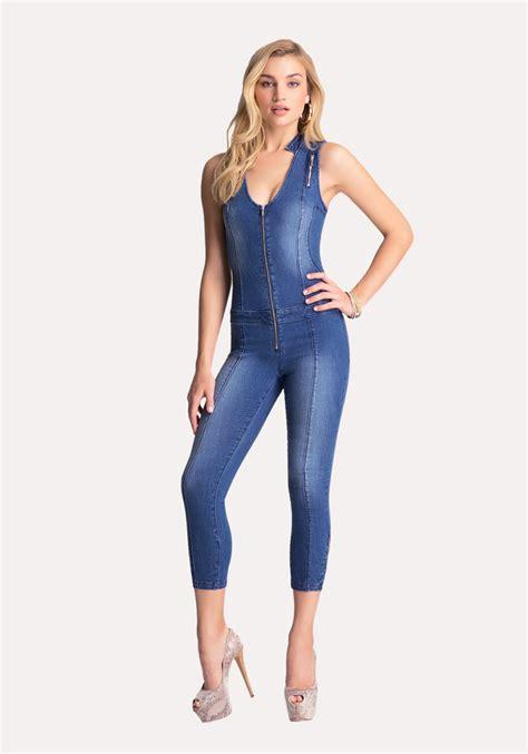 Denim Capri Jumpsuit - Breeze Clothing