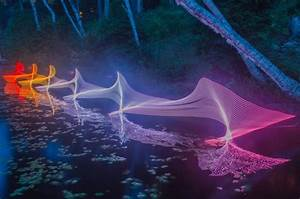 The motions of kayaking and canoeing recorded through for Water light painting