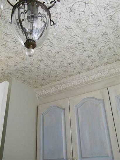 French Ceiling Decor Tin Faux Cottage Washroom