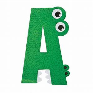 a is for alligator letter a craft kit oriental trading With alphabet craft letters