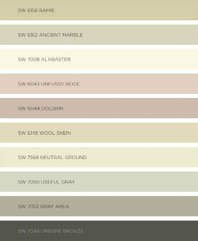 my favorite paint colors from sherwin williams colormix