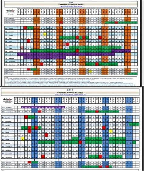 calendarios oj oficial de justica