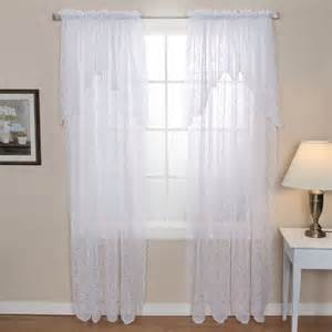 polencia window lace panel with attached valance shopko