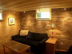 Lighting for low ceilings in basement apartments
