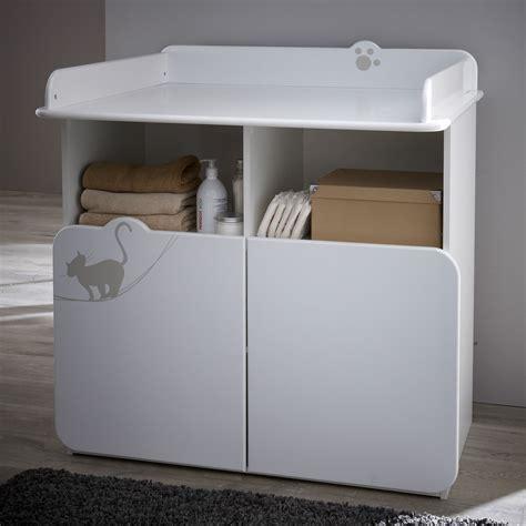 amenagement chambre bébé commode table à langer 2 portes 2 niches calinou