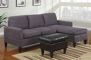 modern small gray microfiber sectional sofa reversible With black microfiber small sectional sofa with reversible chaise ottoman