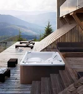 Whirlpool Für Draußen : mini swimmingpool mit jacuzzi und wasserfall farbtherapie idfdesign ~ Sanjose-hotels-ca.com Haus und Dekorationen