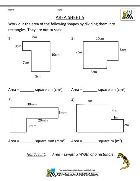 13 area of irregular shapes worksheet mucho bene